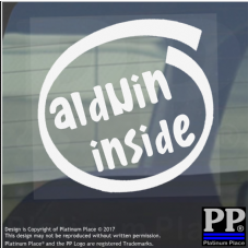 1 x Alduin Inside-Window,Car,Van,Sticker,Sign,Vehicle,Adhesive,Skyrim,Dragon,Fun